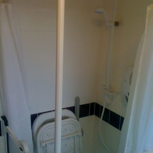 Shower Divider and disabled seat