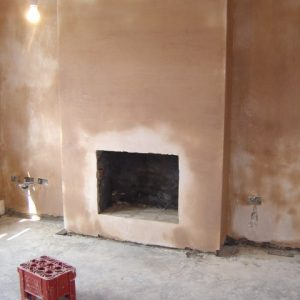 hole in wall where a fireplace should be