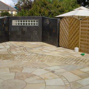 outdoor patio tiling